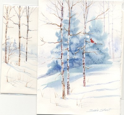 Watercolor Christmas Cards.Susie Short S Watercolor Christmas Card Ideas Greeting Cards