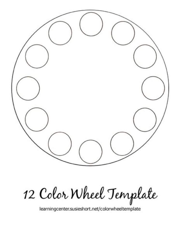 12 Color Wheel Template For Artists