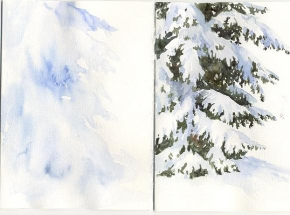 Susie Shorts Watercolor Christmas Card Ideas For Painting Cards