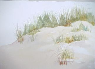 painting sand with watercolor with beach grass added